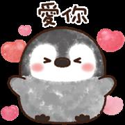 สติ๊กเกอร์ไลน์ Pastel Penguin Pop-Up Flower Stickers