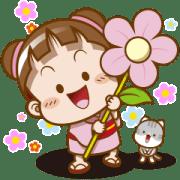 สติ๊กเกอร์ไลน์ Sakura Cocoa✿Flower Stickers