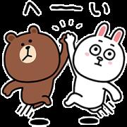 สติ๊กเกอร์ไลน์ Yuji Nishimura × BROWN