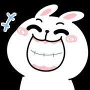 สติ๊กเกอร์ไลน์ N9: กระต่ายเชียร์ ดุ๊กดิ๊ก x3