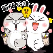 สติ๊กเกอร์ไลน์ Very Miss Rabbit × BROWN & FRIENDS