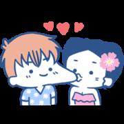 สติ๊กเกอร์ไลน์ luoluoloveyou: Summer Love