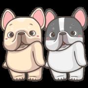 สติ๊กเกอร์ไลน์ French Bulldog PIGU-Animated Sticker XXI