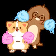 สติ๊กเกอร์ไลน์ Cute and Soft! Baby Hurrybow 2