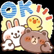 สติ๊กเกอร์ไลน์ Honobono × บราวน์