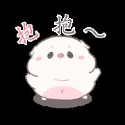 สติ๊กเกอร์ไลน์ Baby Pig Pop-Ups Aood Aood by Auongrom