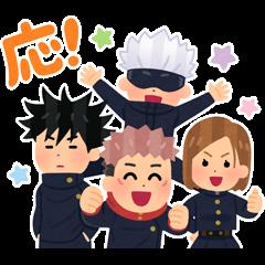 สติ๊กเกอร์ไลน์ Jujutsu Kaisen × Irasutoya Stickers