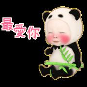 สติ๊กเกอร์ไลน์ Panda Towel Daily 2