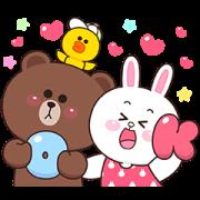 สติ๊กเกอร์ไลน์ Boobib × BROWN & FRIENDS