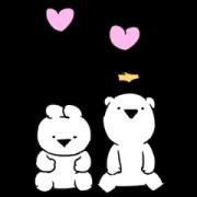 สติ๊กเกอร์ไลน์ Extremely Little Rabbit & Bear: Love