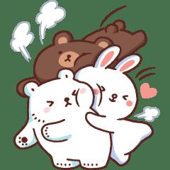 หมีขาวแบค แบค × BROWN & FRIENDS