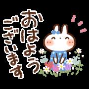 สติ๊กเกอร์ไลน์ Animated White Rabbit