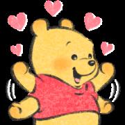 สติ๊กเกอร์ไลน์ หมีพู ลายเส้น Lommy♪