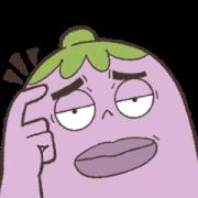 สติ๊กเกอร์ไลน์ Mr. Eggplant: Funny Facial Expressions