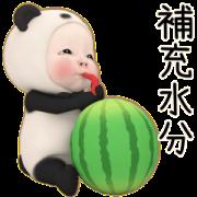 สติ๊กเกอร์ไลน์ Panda Towel Summer Daily