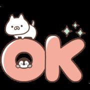 สติ๊กเกอร์ไลน์ Penguin and Cat Days Big Letter Stickers