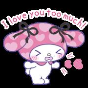 สติ๊กเกอร์ไลน์ My Melody: 2 Much Love