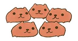 KAPIBARA-SAN & Friends 2 sticker #526151