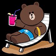 สติ๊กเกอร์ไลน์ LINE Characters ★ Happy Vacations