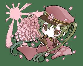 Hatsune Miku senbonsakura sticker #695247