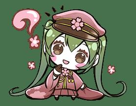Hatsune Miku senbonsakura sticker #695255