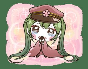 Hatsune Miku senbonsakura sticker #695273