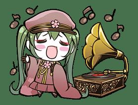 Hatsune Miku senbonsakura sticker #695282