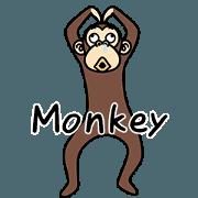 สติ๊กเกอร์ไลน์ Crazy Lazy Monkey