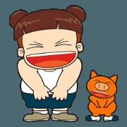 สติ๊กเกอร์ไลน์ Ormsin : Ormsin & Mooyong