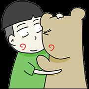 สติ๊กเกอร์ไลน์ Beargirlfriend Love Story