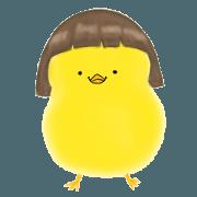 สติ๊กเกอร์ไลน์ A peculiar chick-Ari
