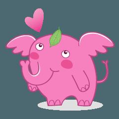 สติ๊กเกอร์ไลน์ A appeared pink elephant!