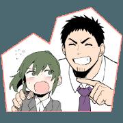 สติ๊กเกอร์ไลน์ Senpai ga uzai kouhai no hanashi
