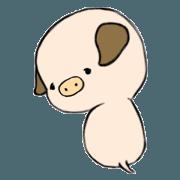 สติ๊กเกอร์ไลน์ A cute little pig bongbong