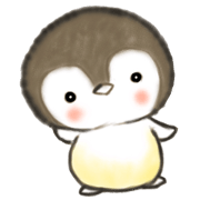 สติ๊กเกอร์ไลน์ Baby Penguin Bongsiri leave Antarctica
