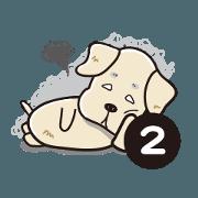 สติ๊กเกอร์ไลน์ Potato Dog is coming 2