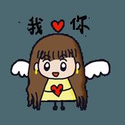 สติ๊กเกอร์ไลน์ Happy little angel