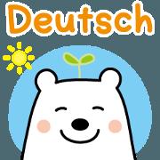 สติ๊กเกอร์ไลน์ Friendly polar bear's sticker in Deutsch