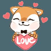 สติ๊กเกอร์ไลน์ Hachi Shiba & Lamoon Cat