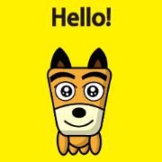 สติ๊กเกอร์ไลน์ TF-Dog Animation 10 ( English )