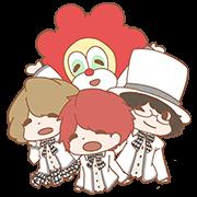 สติ๊กเกอร์ไลน์ SEKAI NO OWARI ! By Koinu