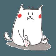 สติ๊กเกอร์ไลน์ White Fat Kitty