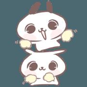 สติ๊กเกอร์ไลน์ Marshmallow Puppies 10