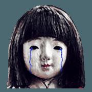 สติ๊กเกอร์ไลน์ Scary doll2
