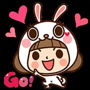 สติ๊กเกอร์ไลน์ Kinoko & Labito's Jiggle Wiggle Party