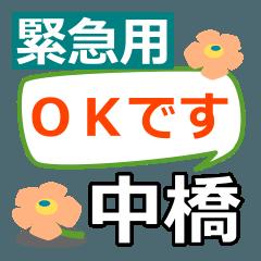 สติ๊กเกอร์ไลน์ Emergency use.[nakahashi]name Sticker