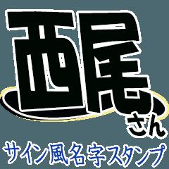 สติ๊กเกอร์ไลน์ The Nishio Sticker 555