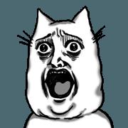 สติ๊กเกอร์ไลน์ Cat which lost his emotions 3
