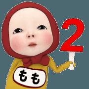 สติ๊กเกอร์ไลน์ Red Towel#2 [Momo] Name Sticker