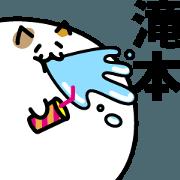 สติ๊กเกอร์ไลน์ MeatBallCat LastNAME Sticker TAKIMOTO!